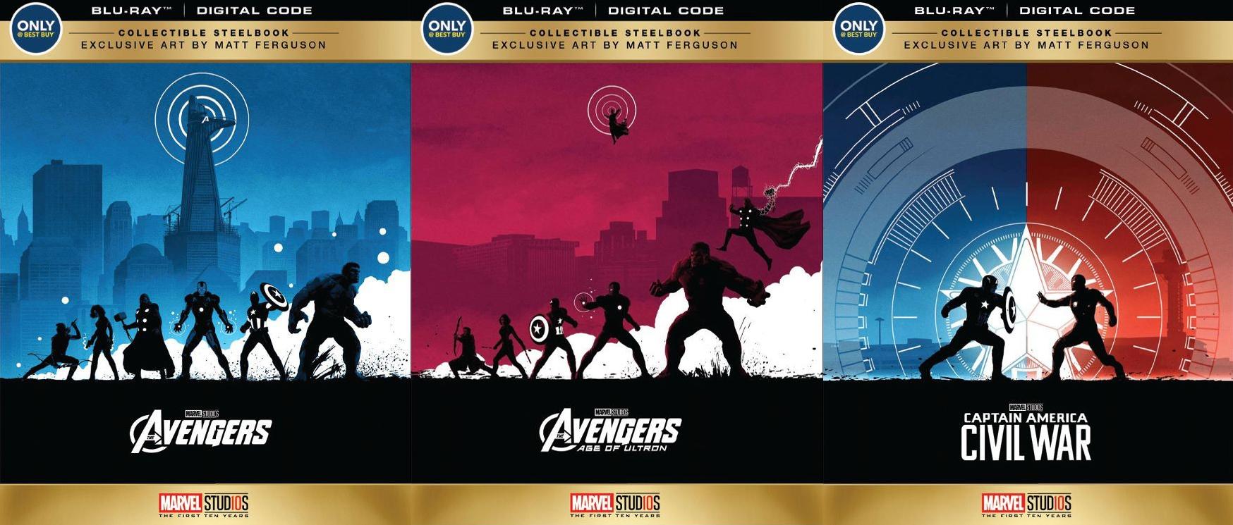 アベンジャーズ マット・ファーガソンスチールブック The Avengers Matt Ferguson ArtworkBest Buy steelbook