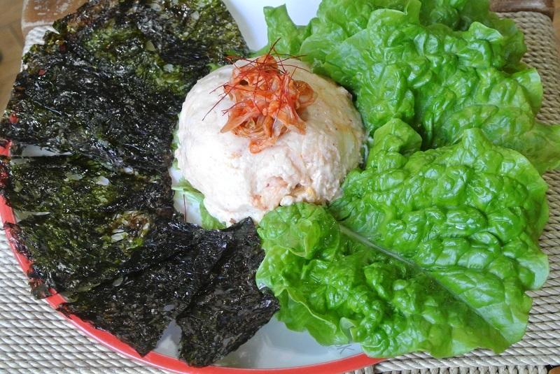 キムチのポテトサラダ1