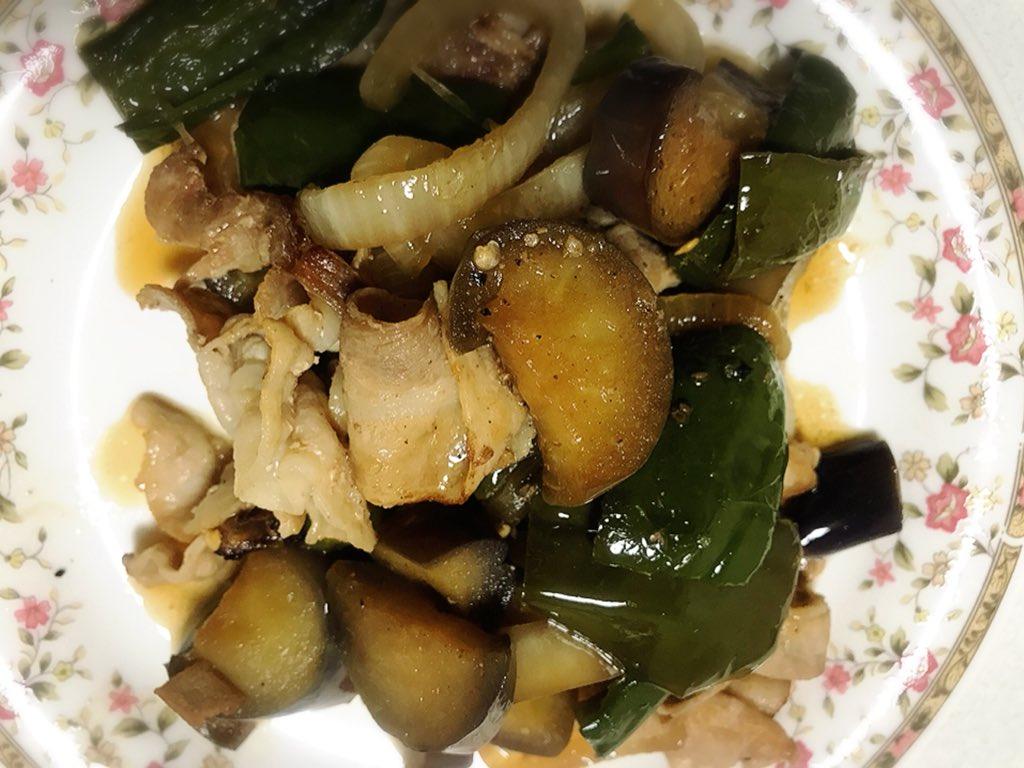 夏野菜と豚肉