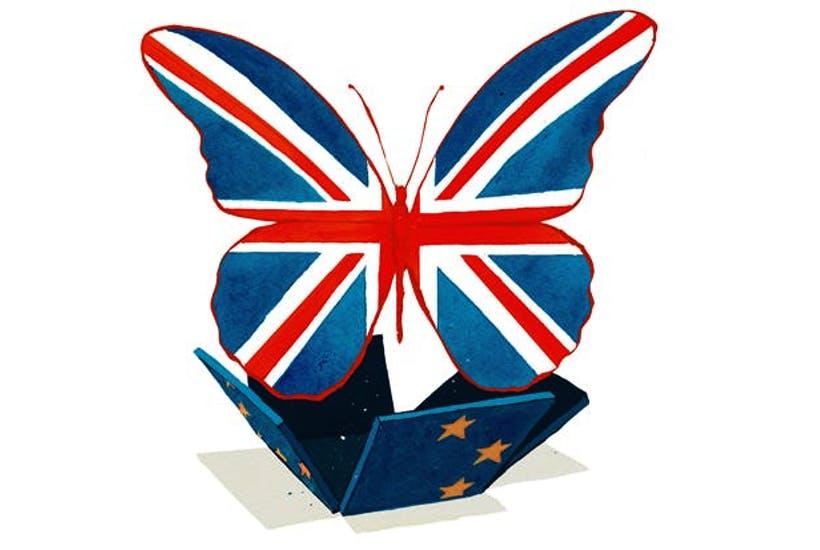 「ドイツに支配されているヨーロッパ」から独立したイギリス