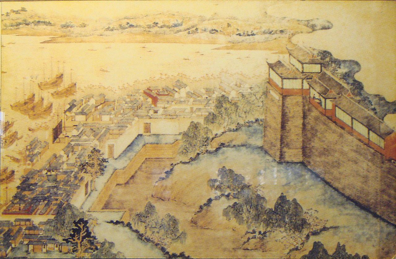 上海の市壁である上海老城廂(17世紀)