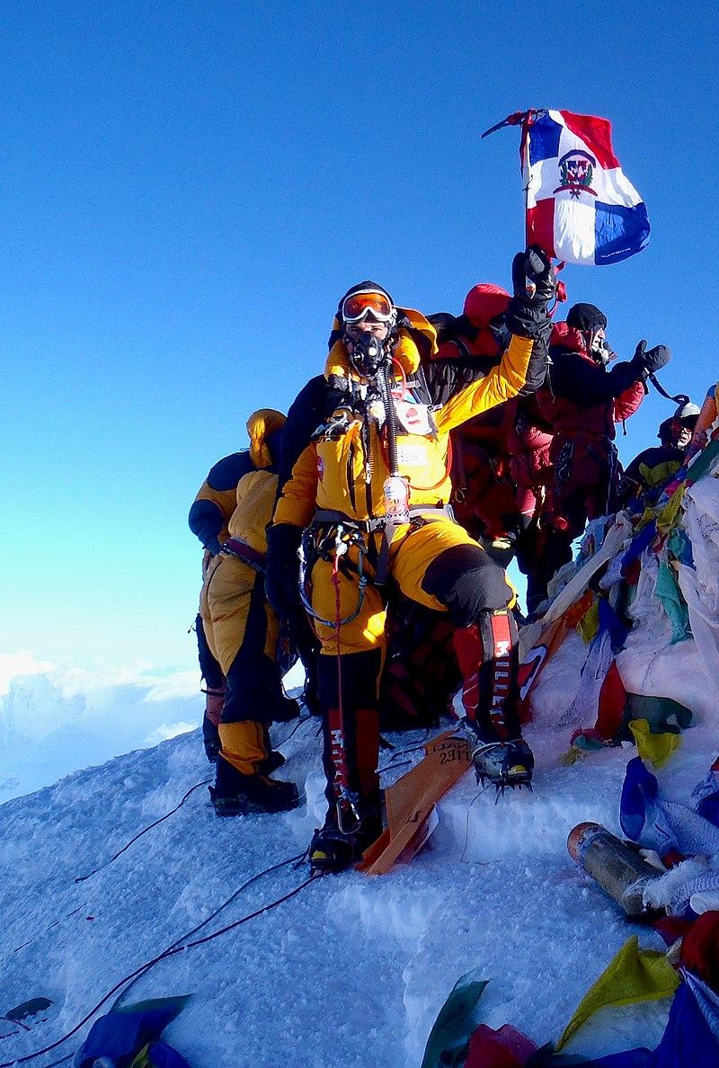 地球上で最も高いエベレスト山の頂上。