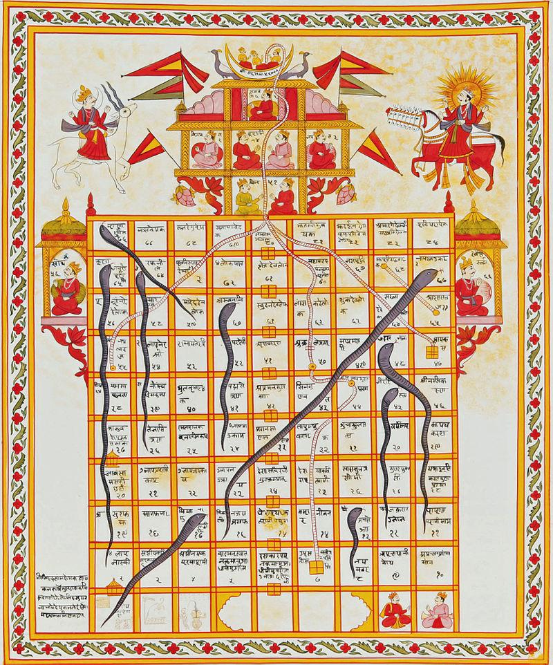 「蛇と梯子」(19世紀、インド)