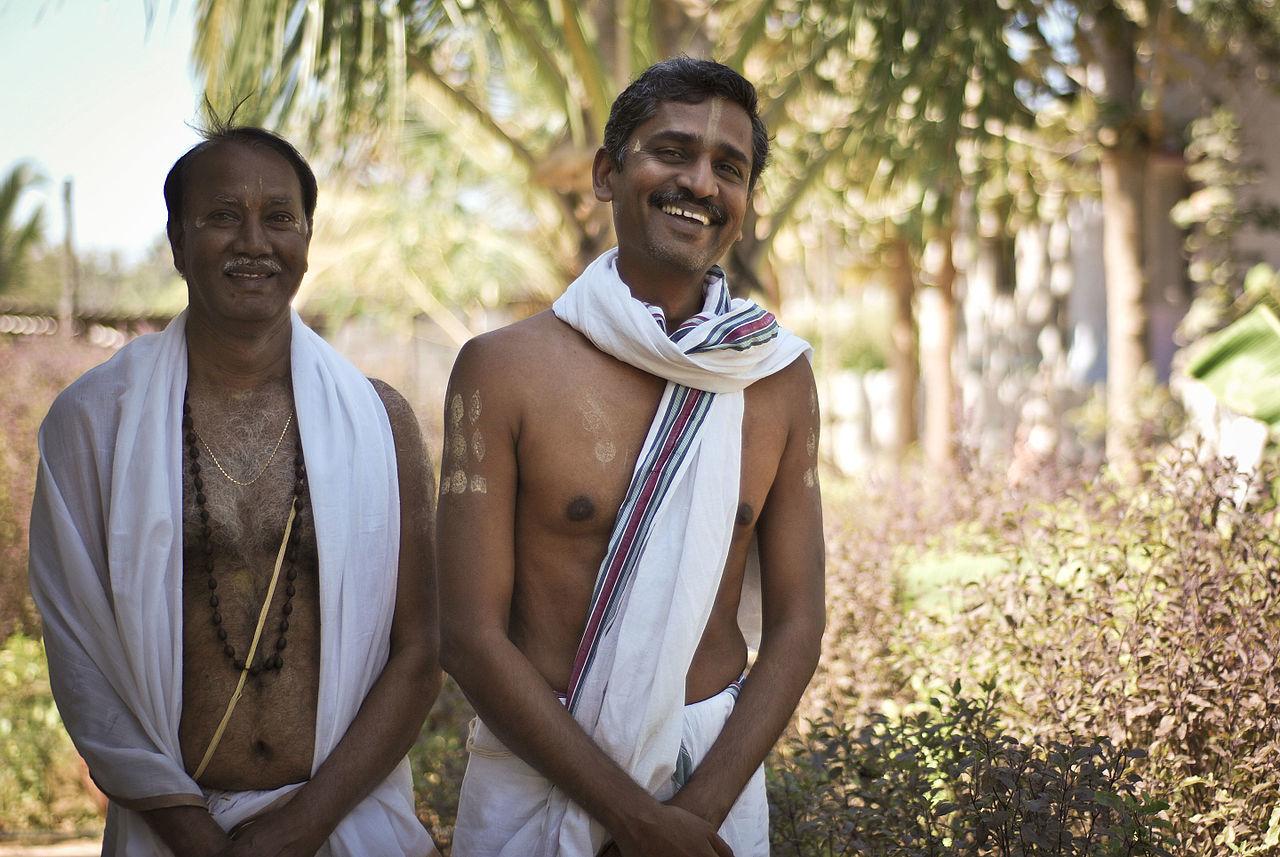 バラモン階級の人々(インド・カルナータカ州)