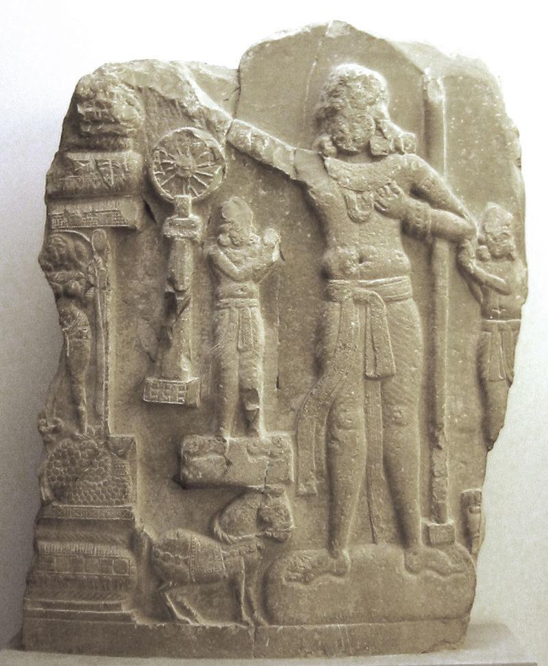アショーカ王のレリーフ