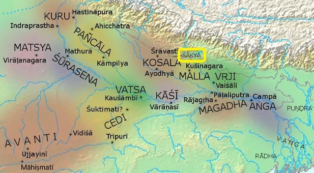 紀元前500年の十六大国の領域 2