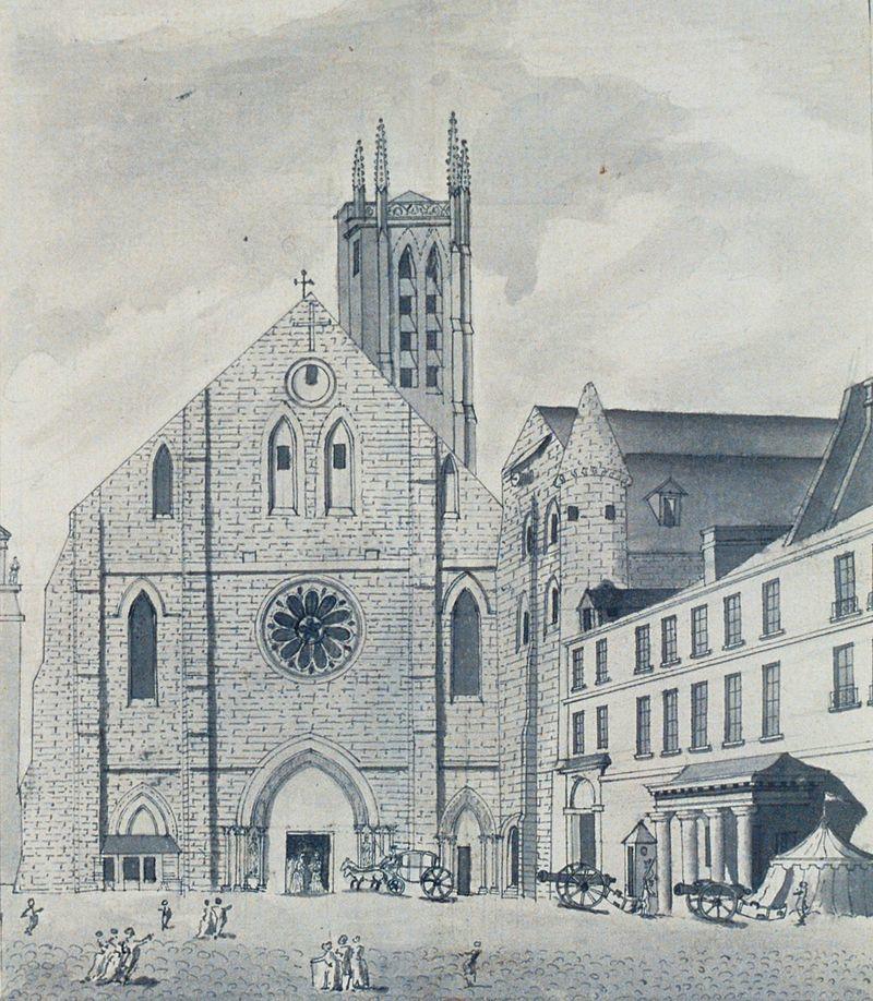 18世紀に描かれたサント=ジュヌヴィエーヴ修道院
