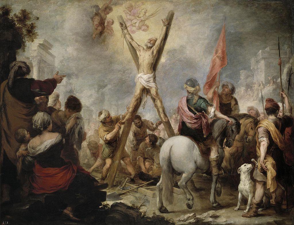 『処刑される聖アンデレ』 バルトロメ・エステバン・ムリーリョ