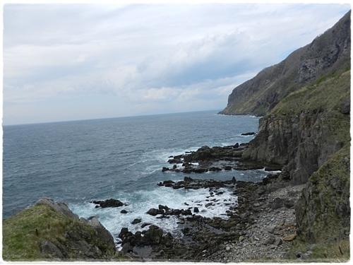 立待岬と津軽海峡