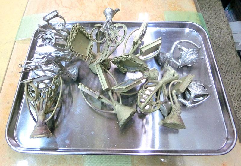 大田区 池上 パンタレイ panta rhei 鋳造 シルバー 真鍮 アクセサリー 煮干し