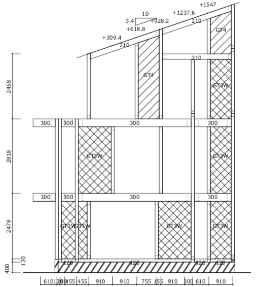 構造立面図