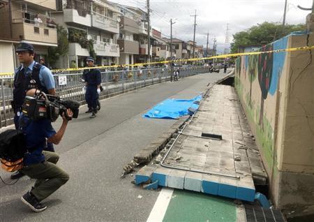 大阪北部地震_ブロック塀の倒壊
