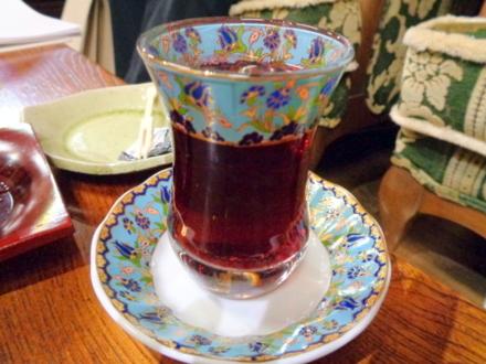 トルコのガラスの器 ブルー