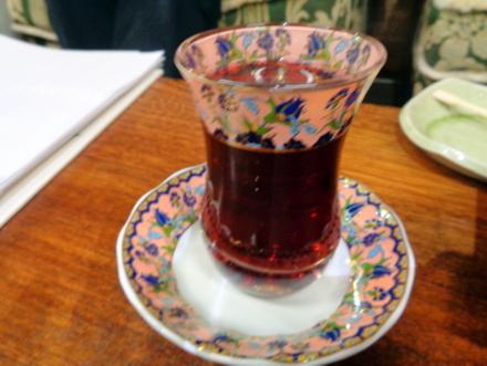 トルコのガラスの器 ピンク