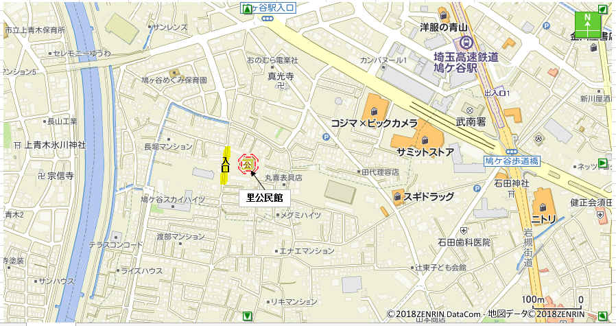 里公民館地図