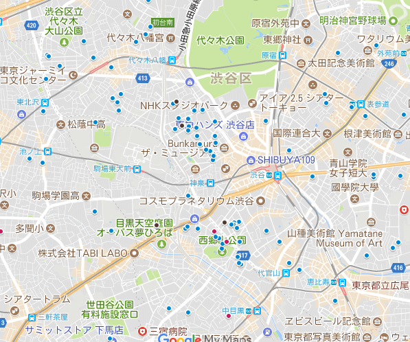 松濤、神山町、南平台町