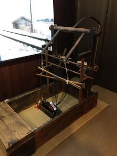 展示の織機