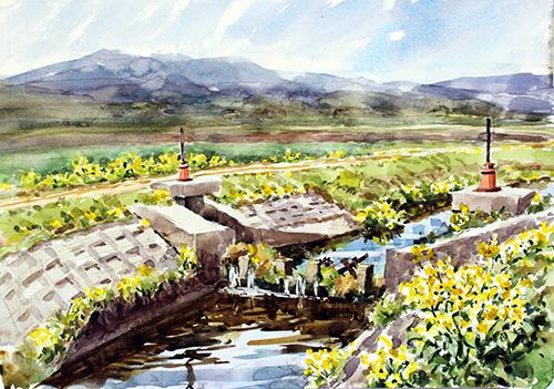 春を迎えた水門