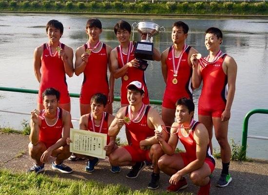 H橋大M8+、10連覇 2018TS戦