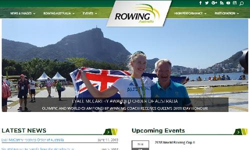 rowing australiaサイト