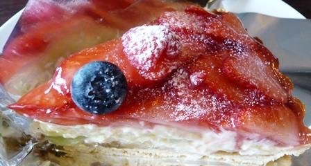 お寺カフェ一輪:イチゴとフルーツのタルト