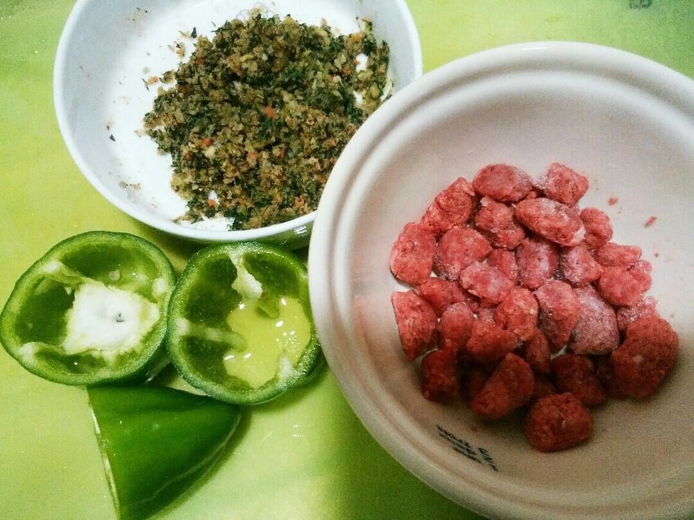 ヘルシー肉詰めの作り方1