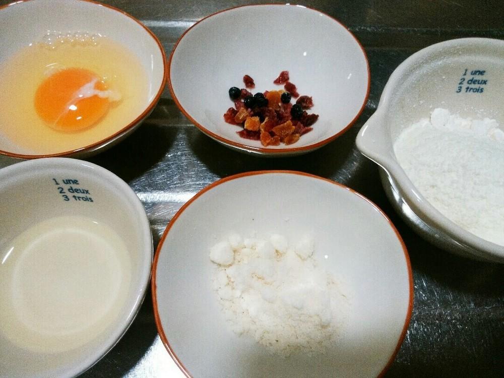 フルーツケーキの作り方1