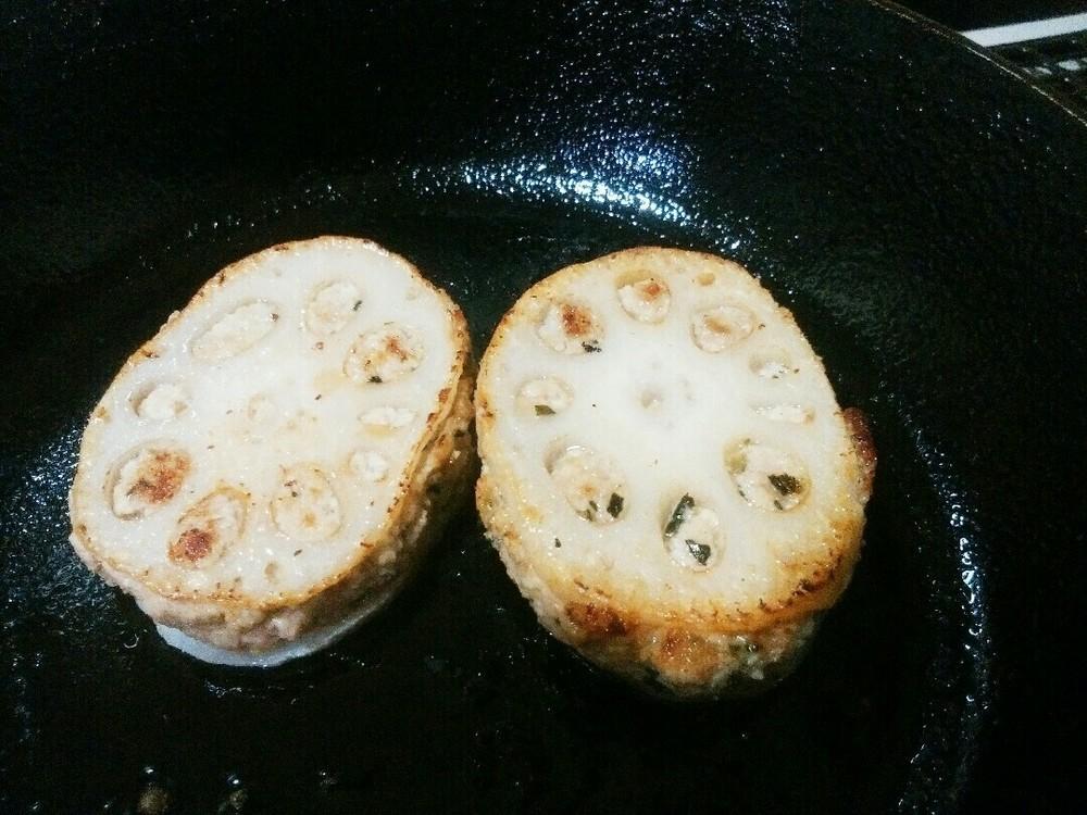 レンコンの肉詰めの作り方7