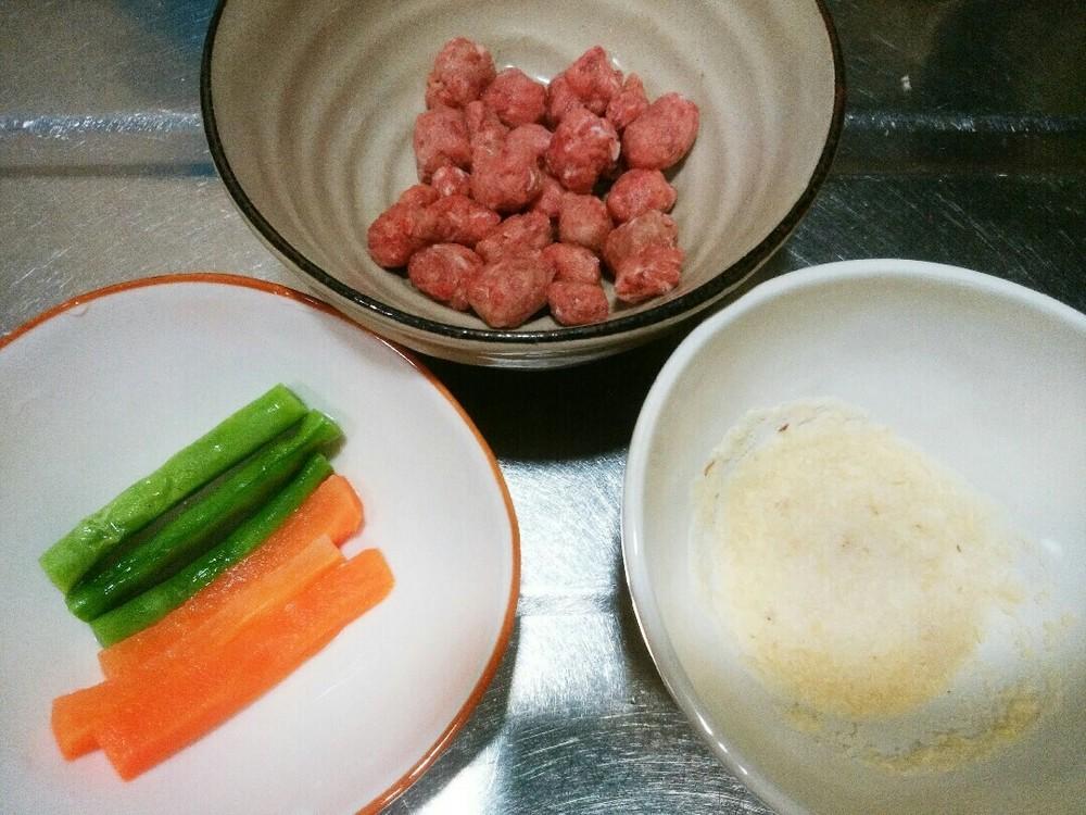 野菜のミンチ巻きの作り方1