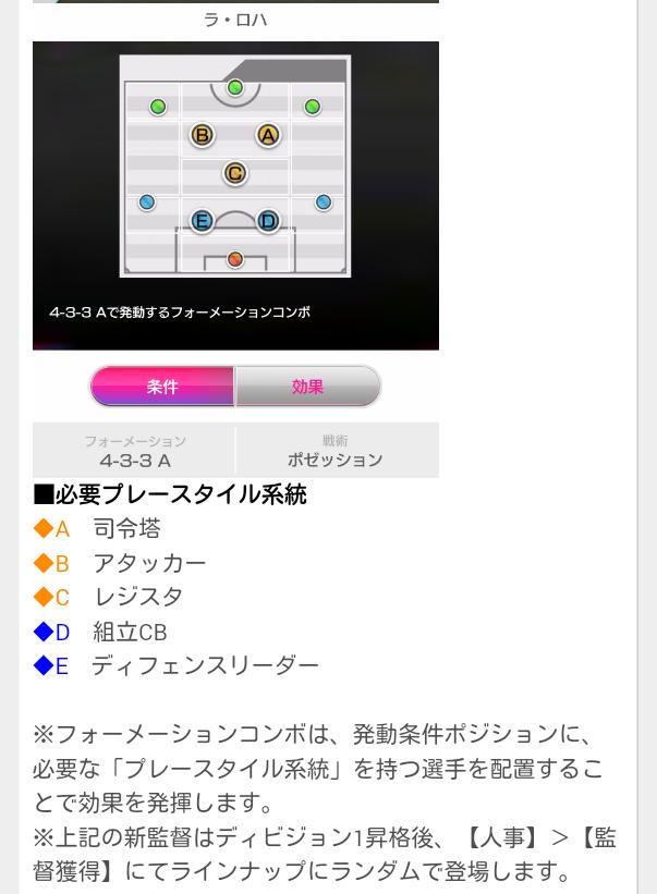 新監督・フォーメーションコンボ追加5