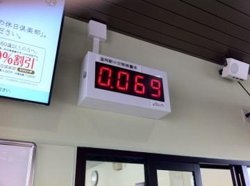 駅に線量計