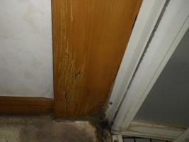 浴室ドア被害