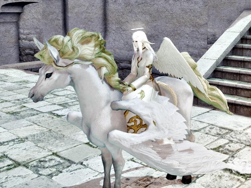 天使と天馬