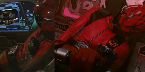 戦隊ヒーローのレッドバスターがやられてスーツとマスクが破壊