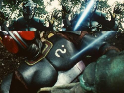 仮面ライダーブラック、南光太郎がピンチ!ヒーローがエネルギー吸収でやられる