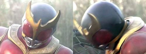 ヒーロー、仮面ライダークウガの敵の圧倒的な力にやられて完全敗北