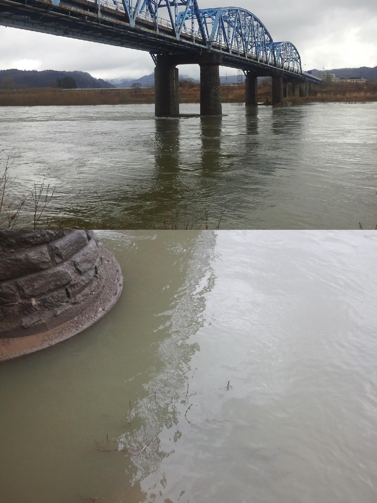 4月7日 米白橋 水位1、18