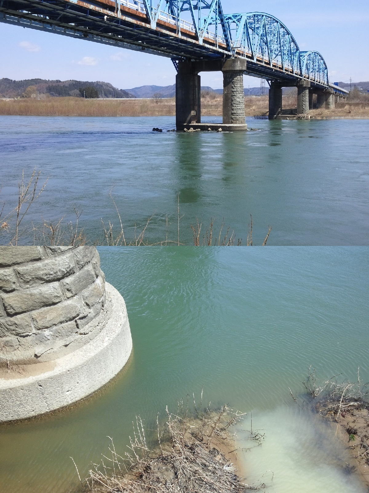 4月10日 米白橋 水位0、54