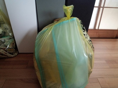 ごみ袋いっぱい断捨離