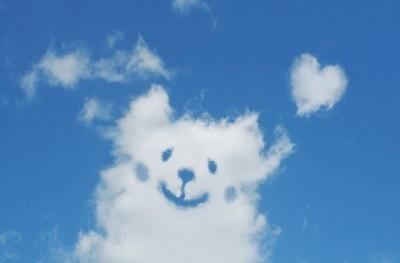 雲とハート