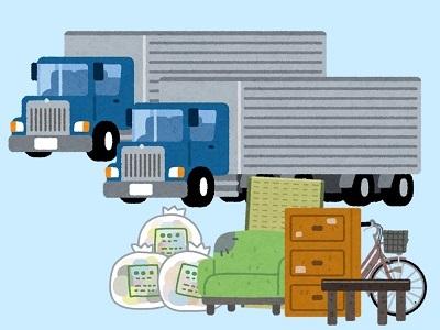トラックとゴミ