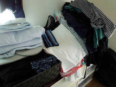 洗濯物のやま
