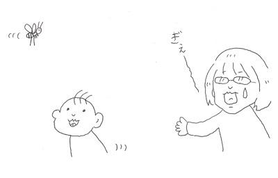 アシナガバチと息子と私