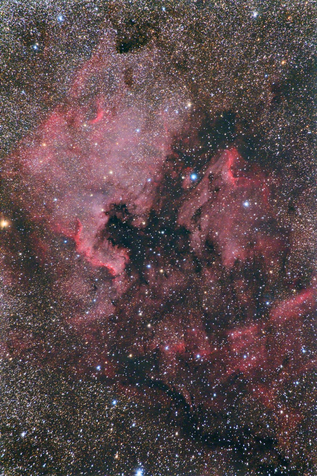 【星雲】NGC7000他 オカペリ (北アメリカ&ペリカン星雲)