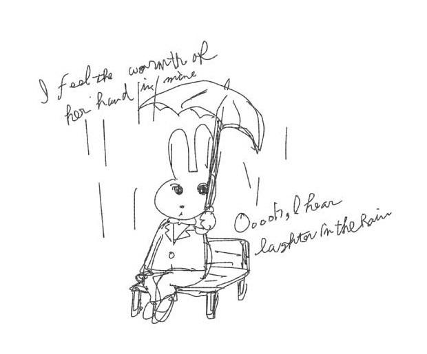 雨にほほ笑みを