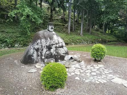 万治の石仏 像