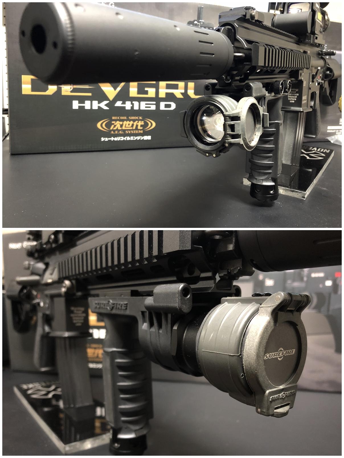 27 東京マルイ 次世代電動ガン HK416D DEVGRU デブグル アメリカ海軍特殊部隊 DEVGRU Seal Team6 新品 箱出し カスタム お勧めパーツ 取付 レビュー