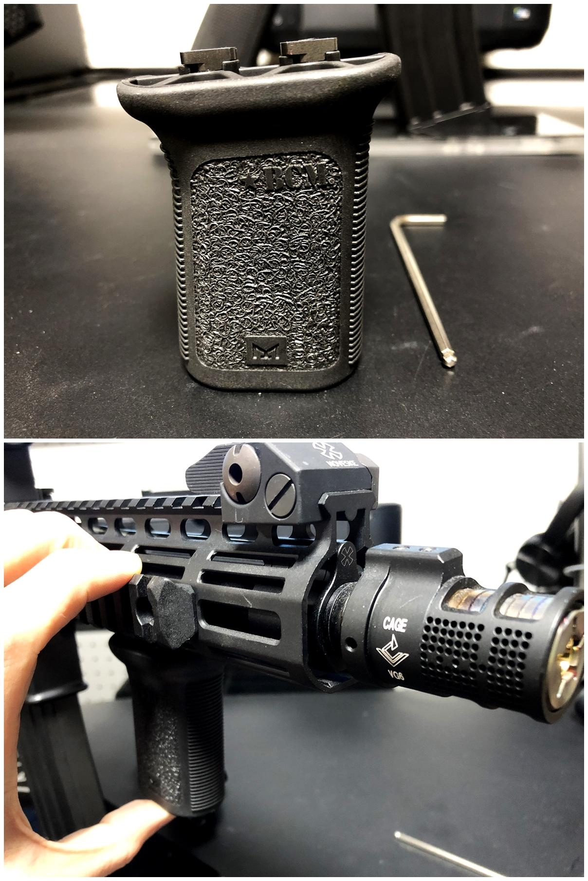 11 実物 BCM GUNFIGHTER VERTICAL GRIP MOD3 M-LOK Compatible ガンファイター バーティカル グリップ 実物 & レプリカ 違い 検証 取付 交換 正規品 新品 開封 カスタム レビュー