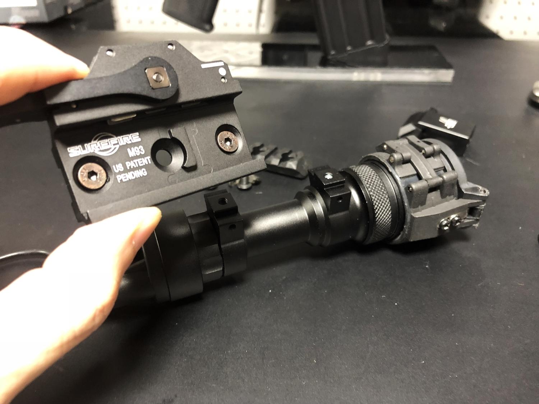 11 SUREFIRE M952V TYPE & HALEY STRATEGIC TYPE PICATINNY LIGHT MOUNT & M-LOK MAGPUL PTS Enhanced Rail Section ERS 3 オフセット セッティング カスタム 購入 開封 取付 分解 実物 レプリカ 比較 レビュー