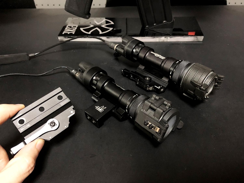 19 SUREFIRE M952V TYPE & HALEY STRATEGIC TYPE PICATINNY LIGHT MOUNT & M-LOK MAGPUL PTS Enhanced Rail Section ERS 3 オフセット セッティング カスタム 購入 開封 取付 分解 実物 レプリカ 比較 レビュー